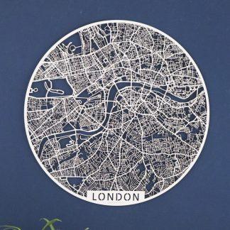 Stadskartor i trä övriga världen